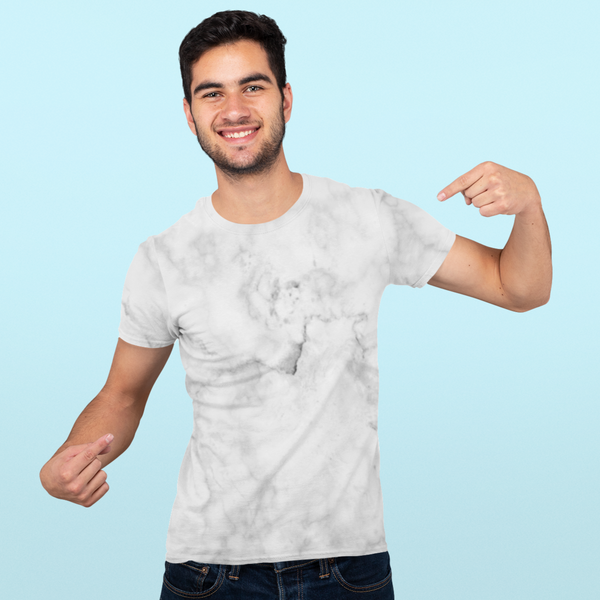 White Marble All-Over Print T-Shirt