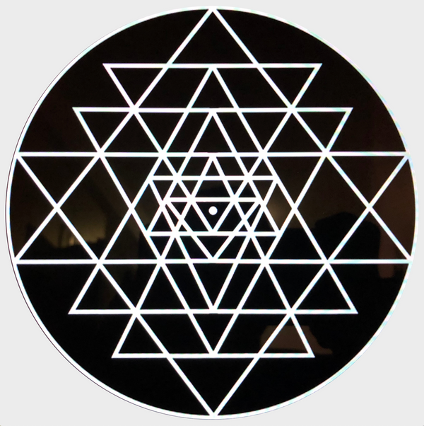 Sri Yantra Sticker (Black)