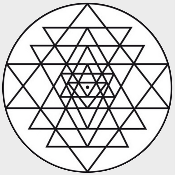Sri Yantra Sticker (White)