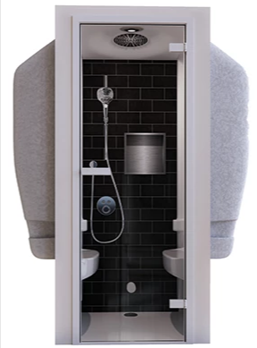 Zeta 640 Steam Shower Cabin