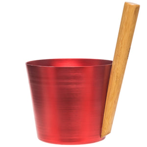 Fiery Red Sauna Bucket