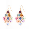 ROSE GOLD OVER SILVER MULTICOLORED SWAROVSKI CRYSTAL CHANDELIER EARRINGS - www.LaBellaDentro.com