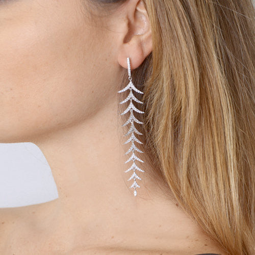 Simeone 925 Sterling Silver Dangle Linear Drop Earrings - www.LaBellaDentro.com