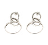 POSITANO Interlocking Circle Drop Hoop Earrings in Sterling Silver - www.LaBellaDentro.com