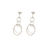 POSITANO INTERLOCKING OVAL DROP HOOP EARRINGS IN STERLING SILVER - www.LaBellaDentro.com