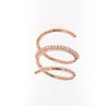 SIMEONE- Rose Gold Plated over 925 Sterling Silver Coil Snake Ring - www.LaBellaDentro.com