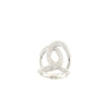 SIMEONE 925 Sterling Silver Twisted Ring with Cubic Zirconia - www.LaBellaDentro.com