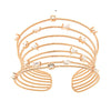 Rose Gold Plated over 925 Sterling Silver Multi-Row Open Cuff Bracelet - www.LaBellaDentro.com