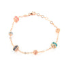 ROSE GOLD OVER SILVER WRAPPED MULTICOLORED SWAROVSKI CRYSTAL BRACELET - www.LaBellaDentro.com