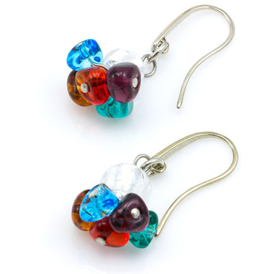 BLISS - Murano Glass Drops Multicolored Set with Necklace and Earrings - www.LaBellaDentro.com