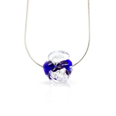 CHANEL - Sterling Silver and Murano Glass Flower Bud Set - www.LaBellaDentro.com