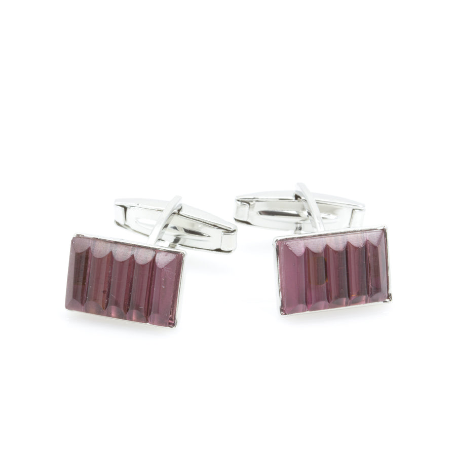 DYLAN - Murano Glass Cufflinks in Purple - www.LaBellaDentro.com