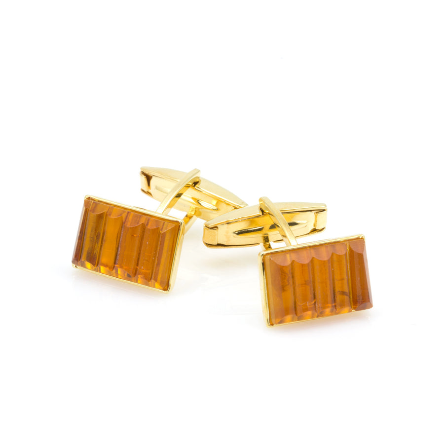 DYLAN- Murano Glass Cufflinks in Orange - www.LaBellaDentro.com