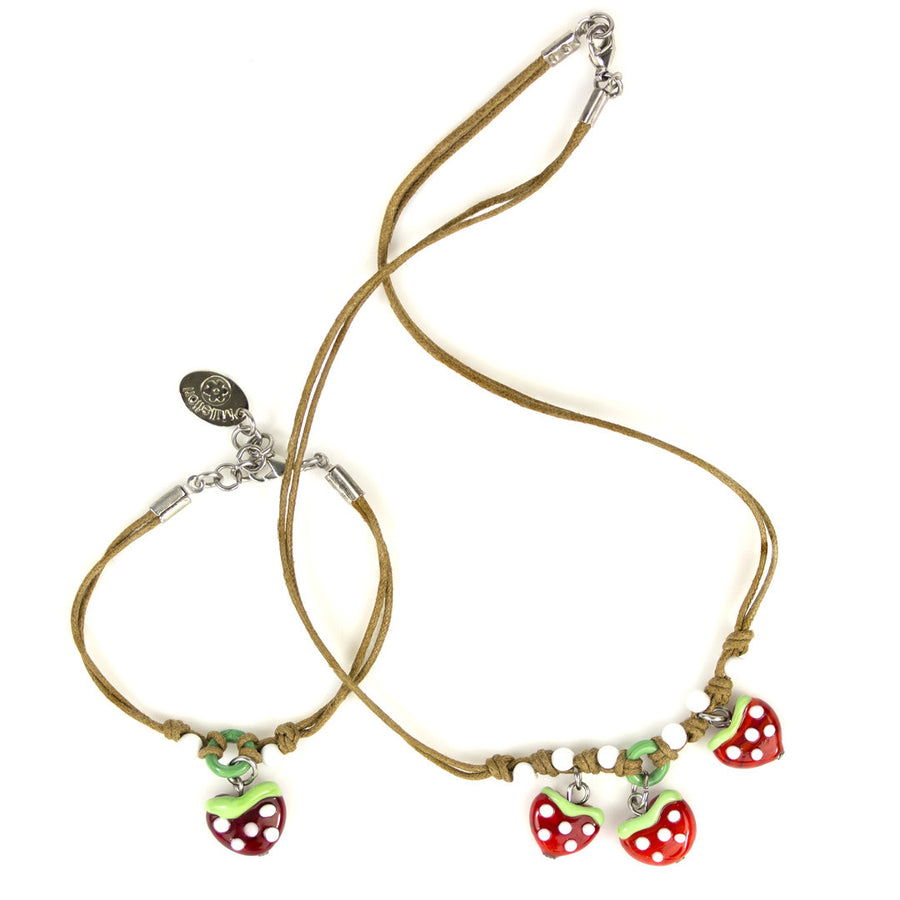 FRAGO – Murano Glass Kids Strawberry Bead Set - www.LaBellaDentro.com