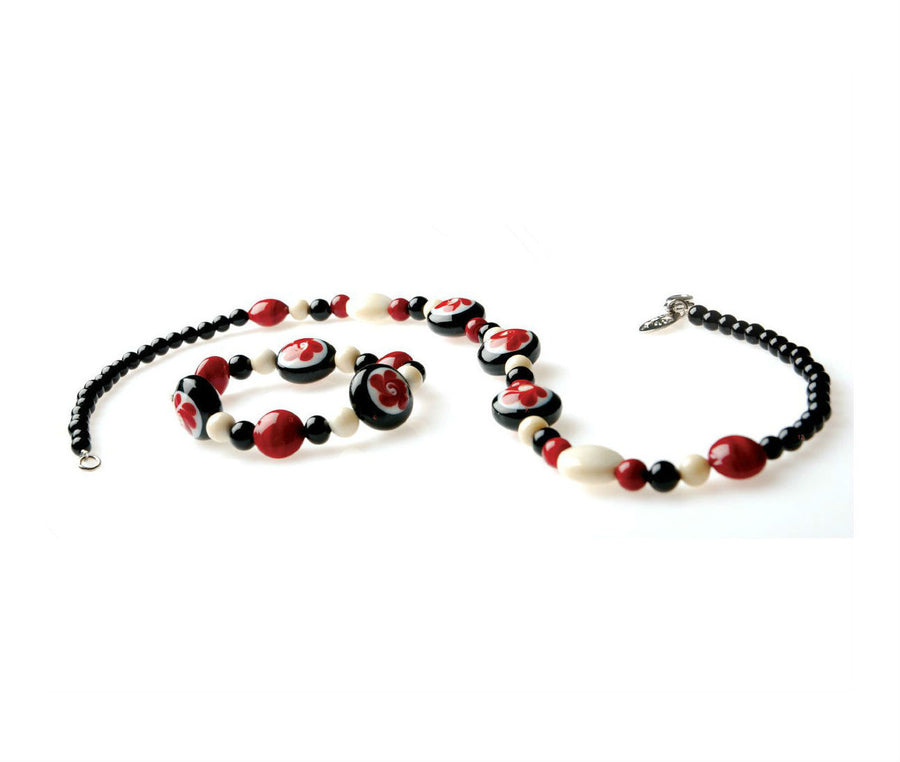 HORA – Murano Glass Kids Beads Necklace and Bracelet - www.LaBellaDentro.com