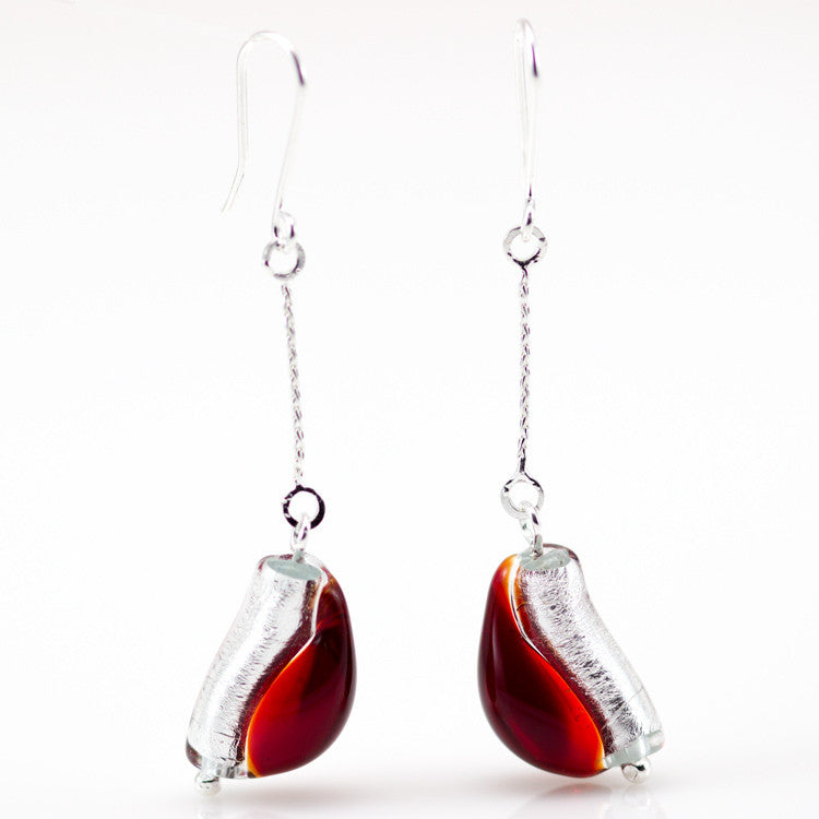 IOANA – Sterling Silver Murano Glass Teardrop Set with Necklace and Earrings - www.LaBellaDentro.com