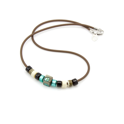 MATTIA – Murano Glass Beads Necklace for Men - www.LaBellaDentro.com