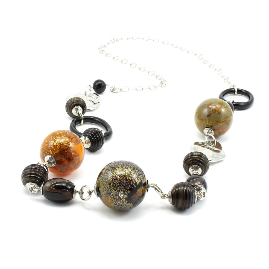 TIARA - Long Murano Glass Necklace - www.LaBellaDentro.com