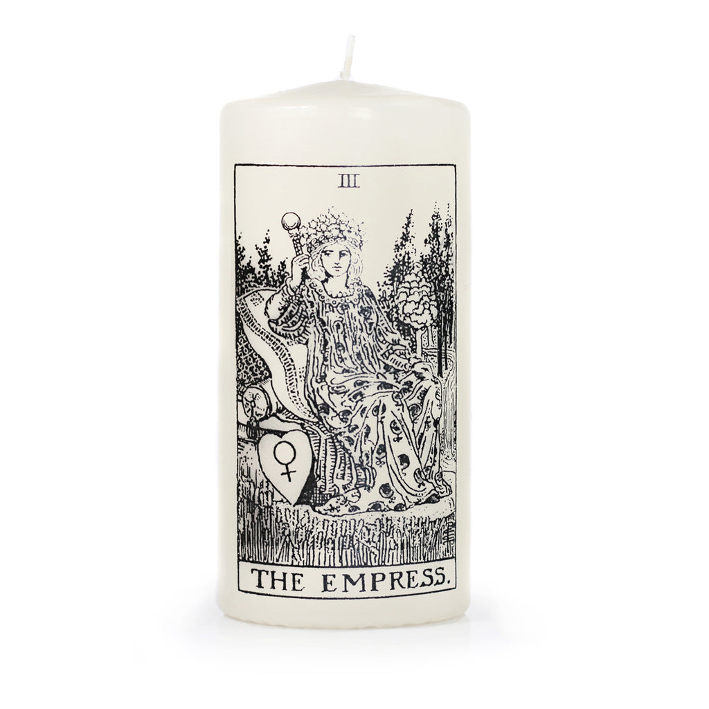 the Empress Tarot Card Pillar Candle