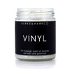 vinyl lovers and record collectors candle. black label with minimalist design. music lovers candle