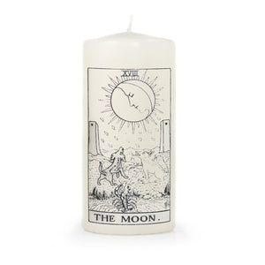 the Moon Tarot Pillar Candle