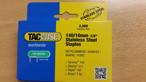 Tacwise Type 140 10mm Stainless Steel Staples