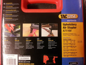 Tacwise A7116V 71 Series Upholstery Air Stapler