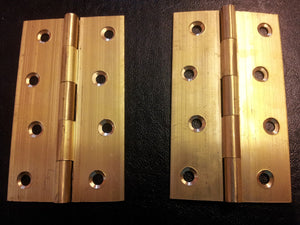 "Brass Butt Hinges 4"" (100mm)"
