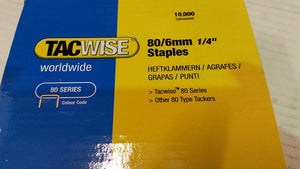 80 Series Staples, 6mm - 14mm