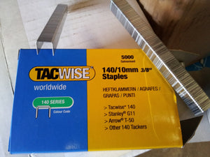 Tacwise 140 / A11 Type Galvanised Staples, 8mm-14mm