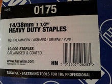 Load image into Gallery viewer, Tacwise 14 Staples, 19mm, 25mm & 38mm