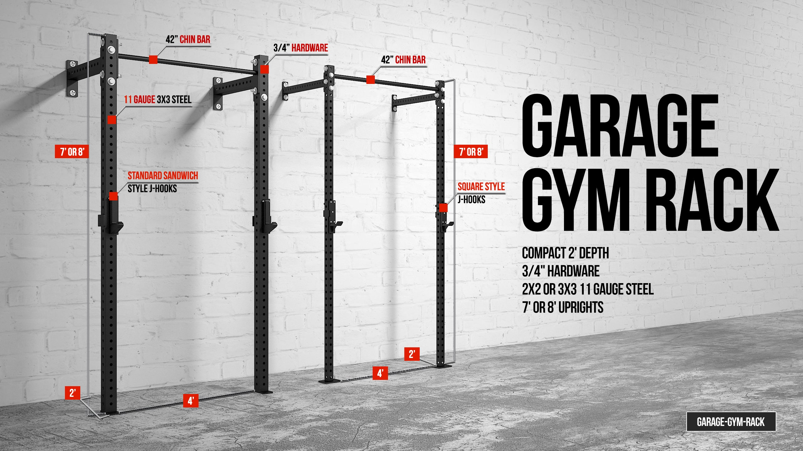 Garage gym compact nutrition : American barbell garage gym rack