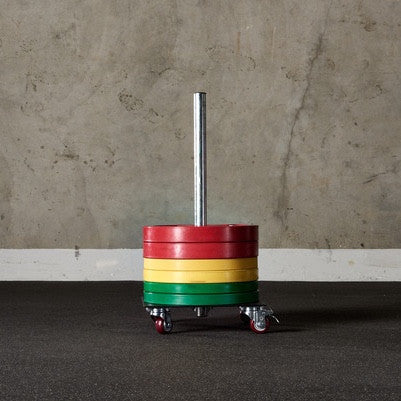Upright Rolling Bumper Storage - American Barbell Gym Equipment