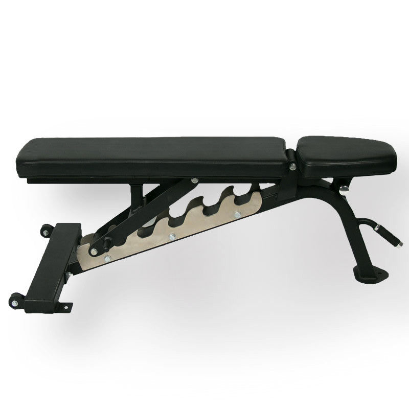 Multiple Adjustable Bench 0-75 Degree - Black Upholstery - American Barbell Gym Equipment