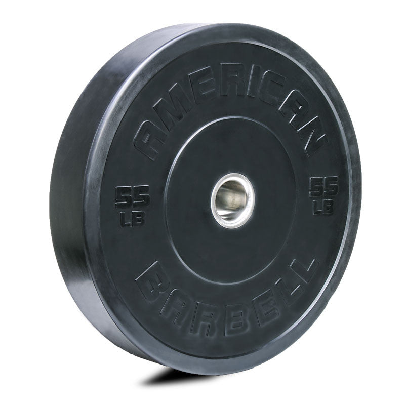 American Barbell Black LB Sport Bumper Plates - American Barbell Gym Equipment