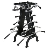 16 Piece Accessory Rack With 2 Rubber Coated Trays - American Barbell Gym Equipment