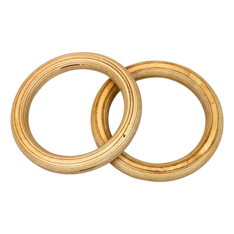 Wood Gym Rings with Straps - American Barbell Gym Equipment