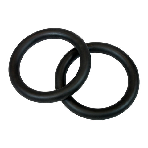 Steel Gym Rings With Straps (Pair) - American Barbell Gym Equipment