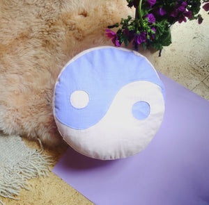 PRIVATE OM EYE PILLOW YIN YANG LILAC