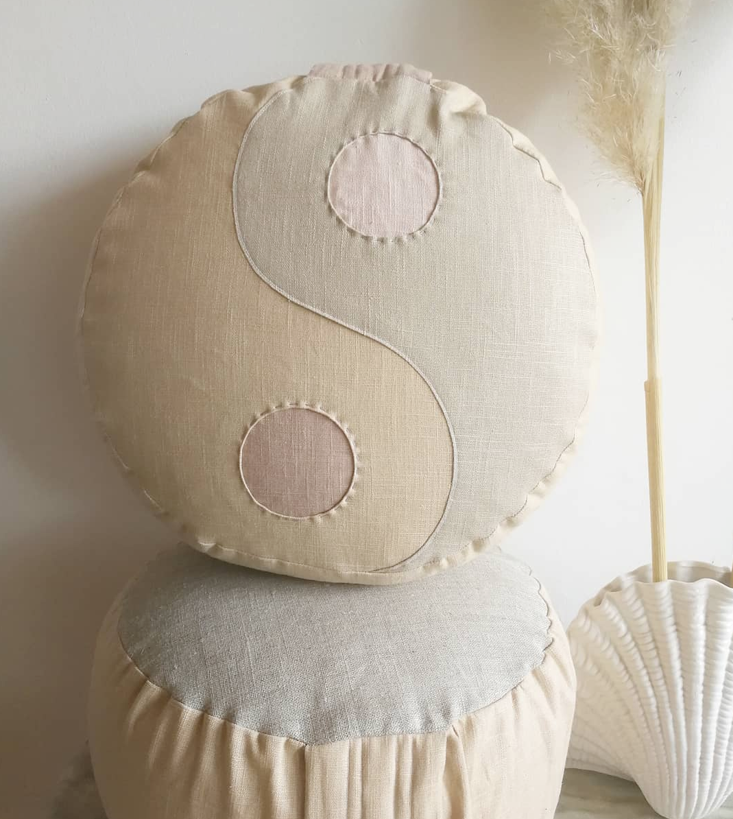 PRIVATE OM PILLOW YIN YANG NEW NEUTRALS