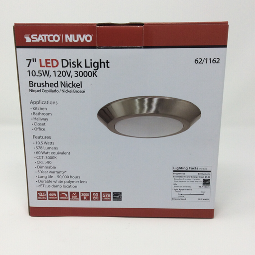 "7"" flush mounted led light"