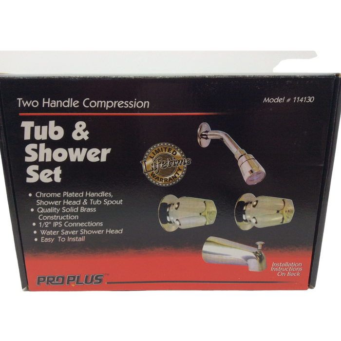 Two Handle Compression Tub & Shower Set