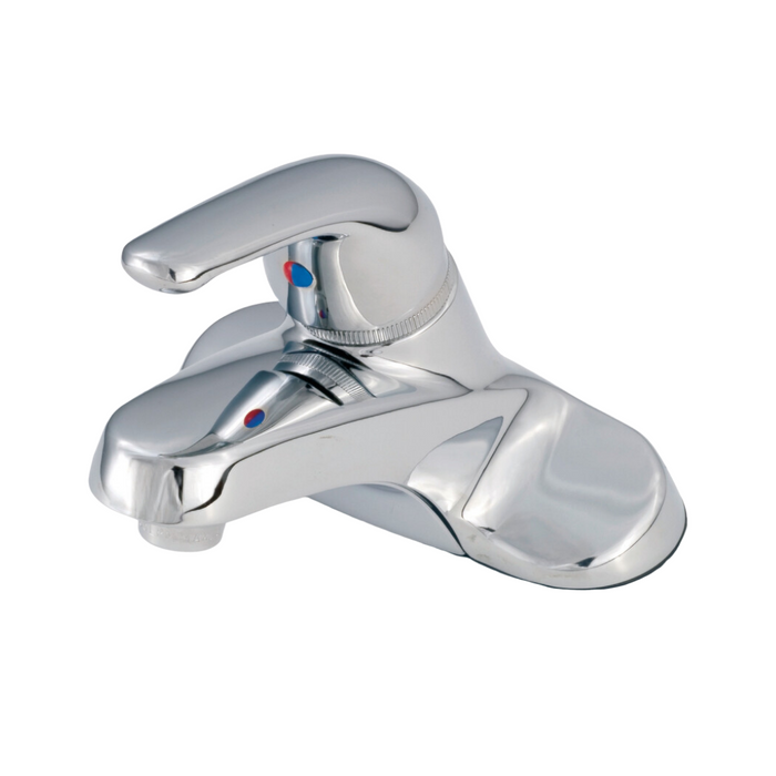 "4"" Single Lever Metallic Lavatory with Blade Handle - Chrome"