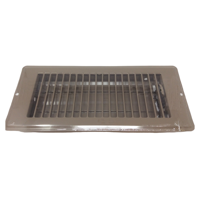 "4"" X 10"" Brown Rolled Face Floor Vent / Register"