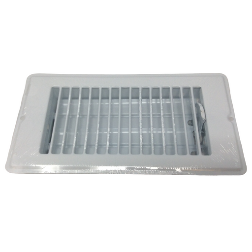 "4"" X 8"" White Rolled Face Floor Vent / Register"