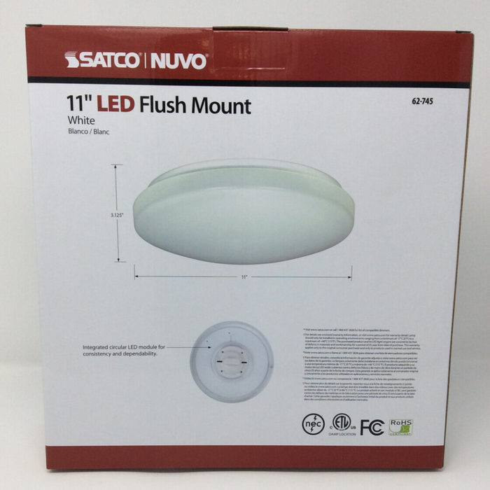 "11"" flush mounted led light back"