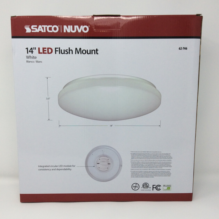 "14"" flush mounted led light back"