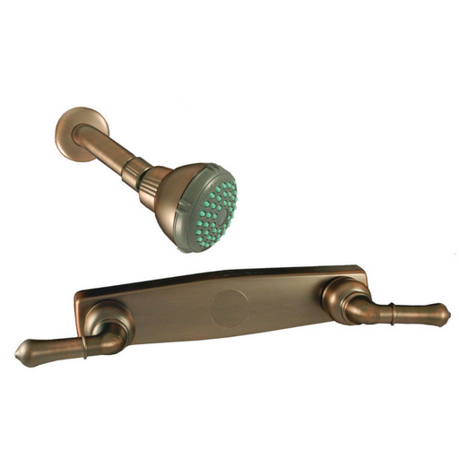 "8"" Shower Faucet With Teapot Handles & Upgraded Shower Head - Oil Rubbed Bronze"