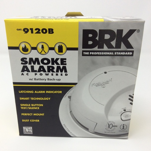 BRK Smoke Alarm AC Powered W/ Battery Backup