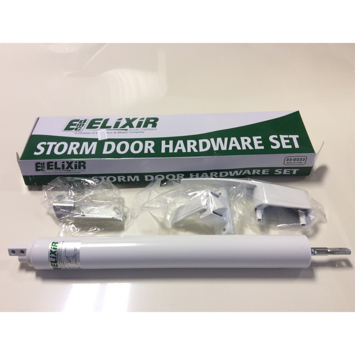 Elixer- Storm Door Hardware Set - White